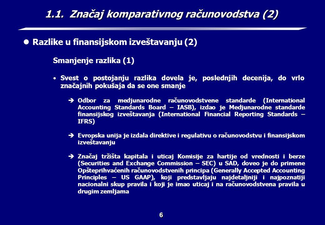 1.1. Značaj komparativnog računovodstva (3)