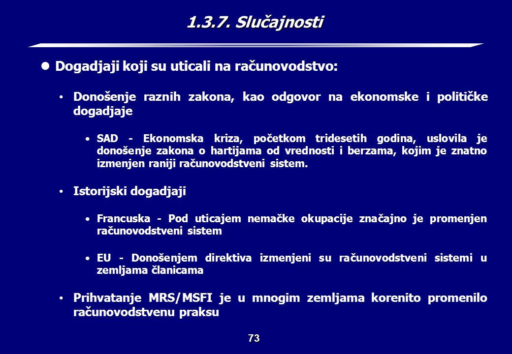 1.4. Zaključak (1) Medjunarodne razlike u finansijskom izveštavanju su brojne i raznovrsne.