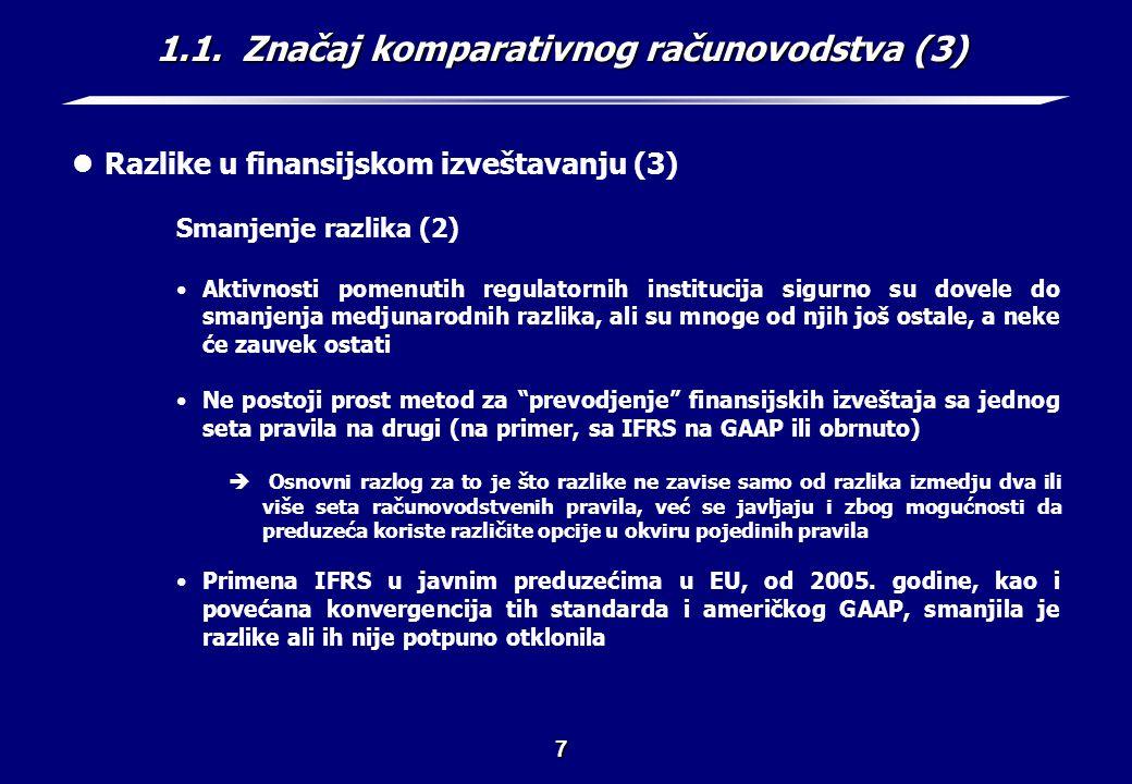 1.1. Značaj komparativnog računovodstva (4)