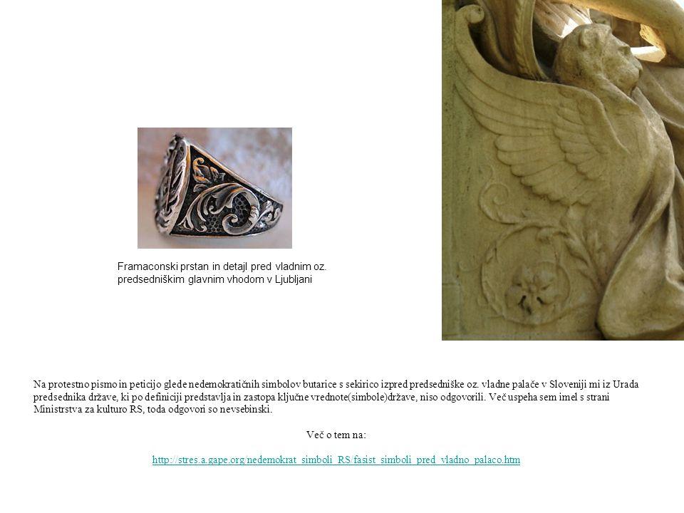Framaconski prstan in detajl pred vladnim oz
