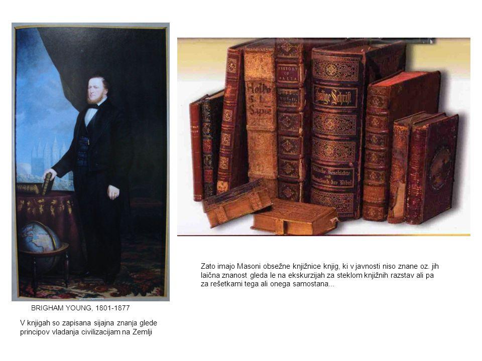 Zato imajo Masoni obsežne knjižnice knjig, ki v javnosti niso znane oz