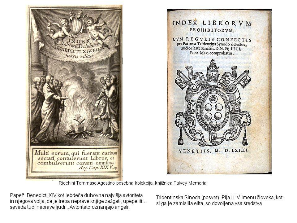 Ricchini Tommaso Agostino posebna kolekcija, knjižnica Falvey Memorial