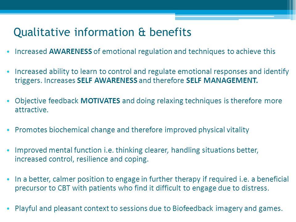 Qualitative information & benefits