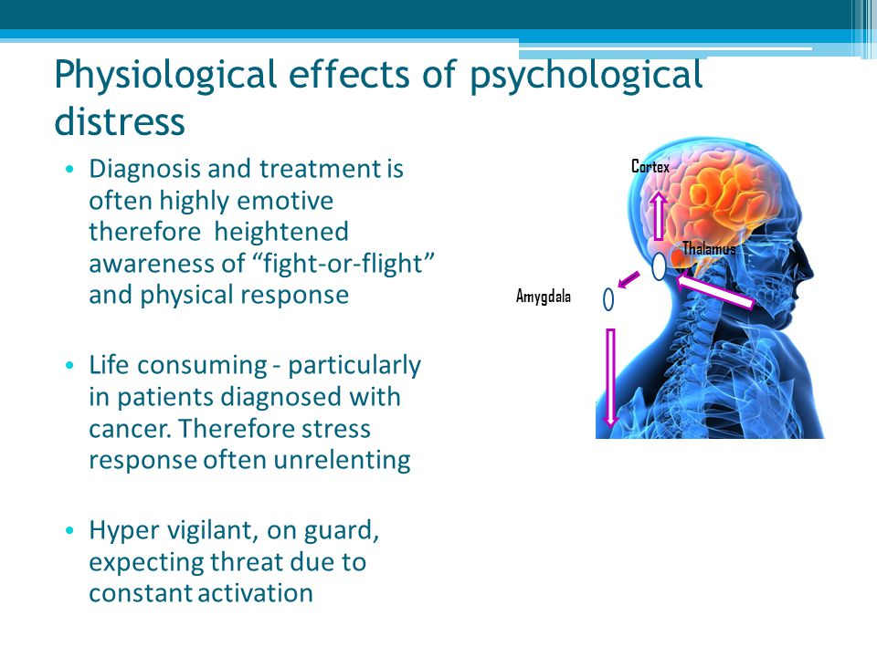 Physiological effects of psychological distress