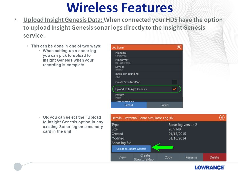 Wireless Features