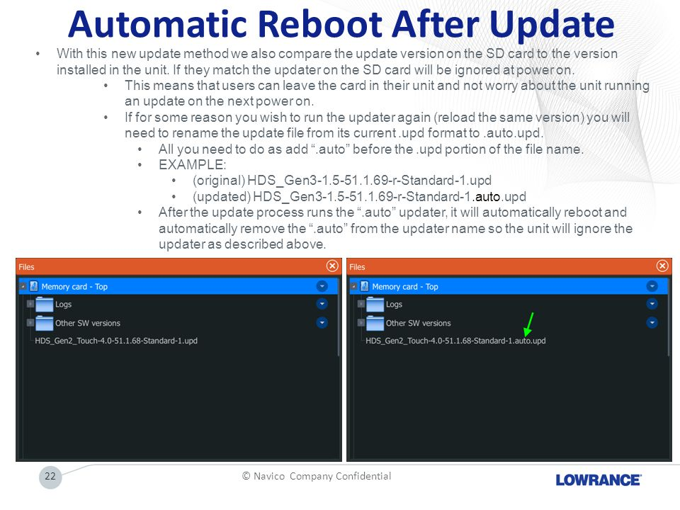Automatic Reboot After Update