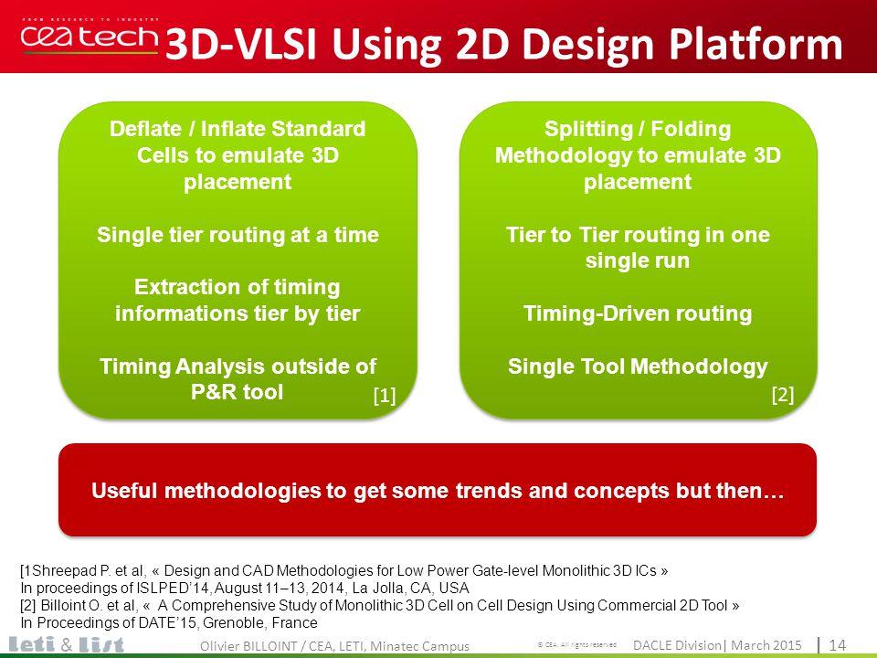 3D-VLSI Using 2D Design Platform