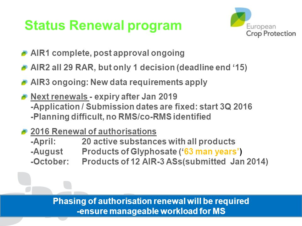 Status Renewal program