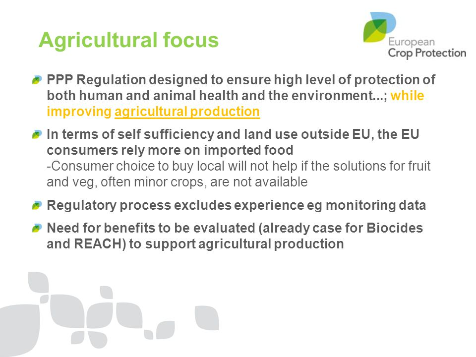 Agricultural focus