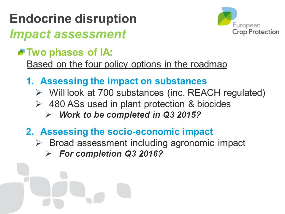 Endocrine disruption Impact assessment