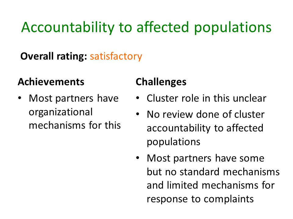 Accountability to affected populations