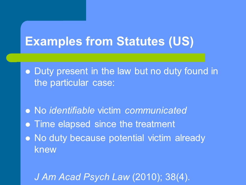 Examples from Statutes (US)