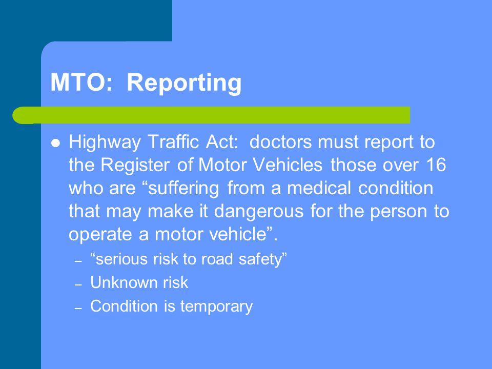 MTO: Reporting