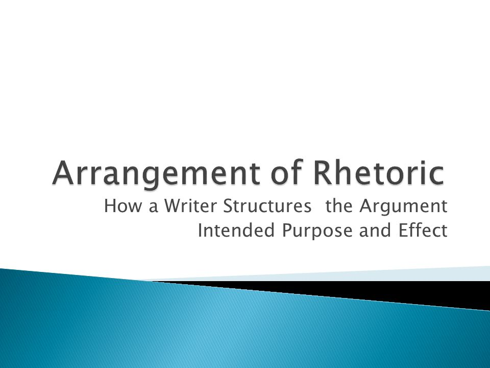 Arrangement of Rhetoric