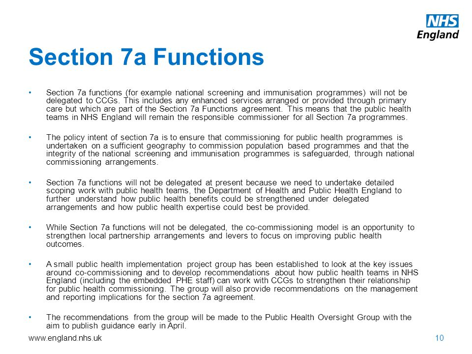 Section 7a Functions
