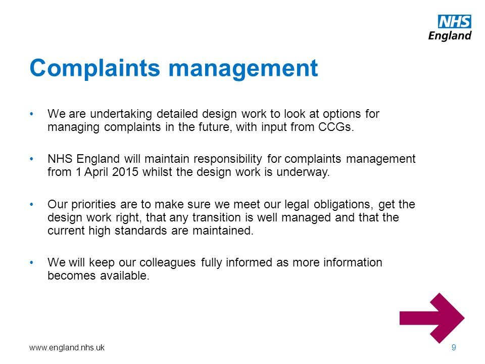 Complaints management