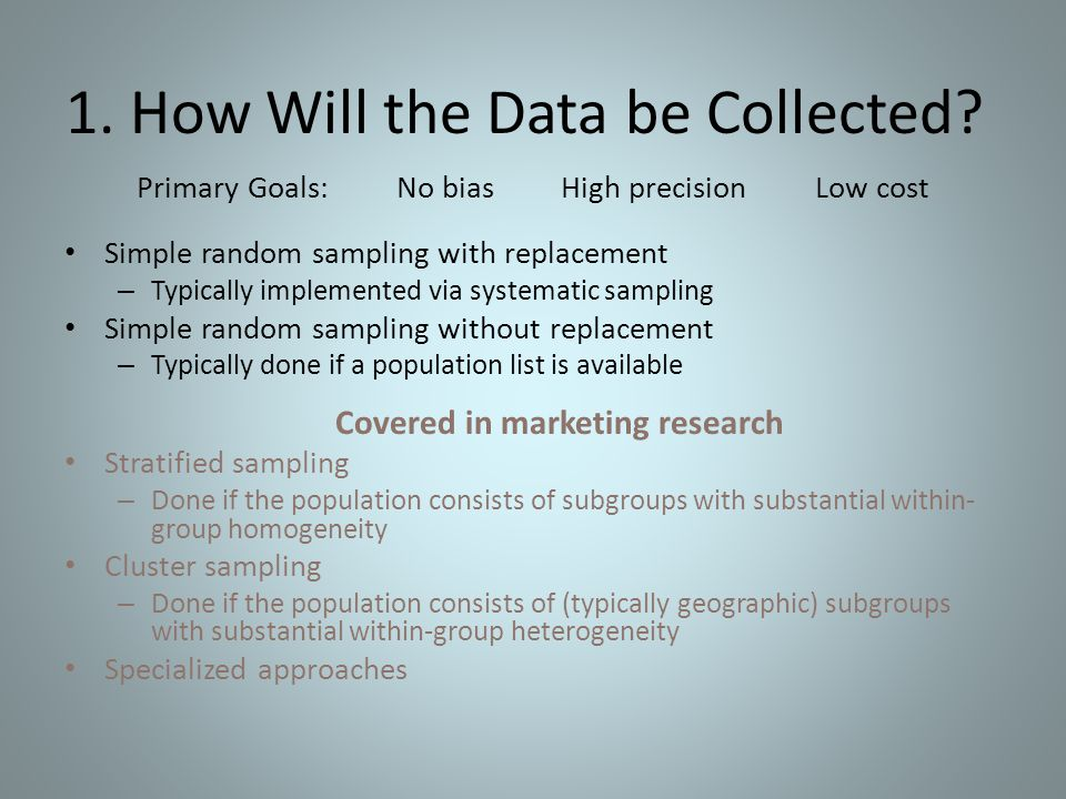 1. How Will the Data be Collected