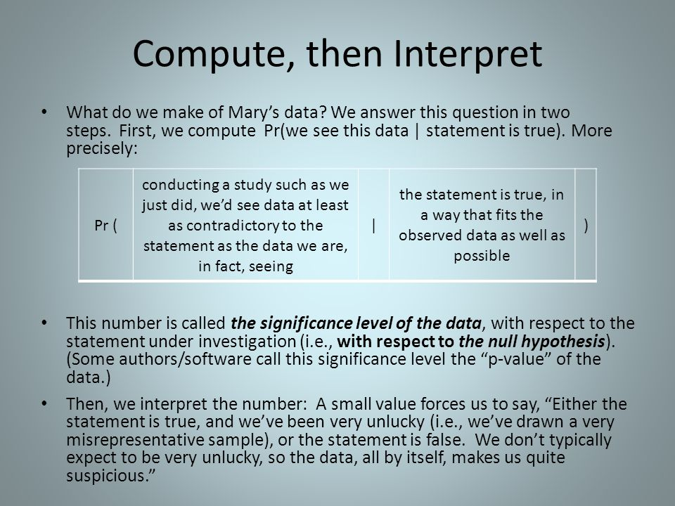 Compute, then Interpret