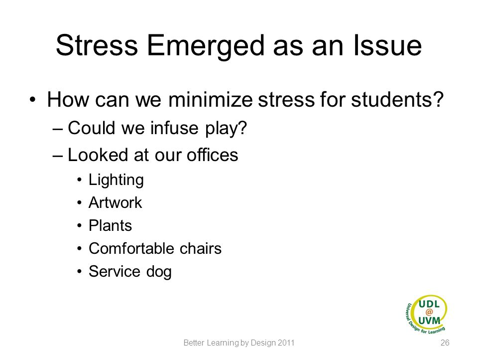 Stress Emerged as an Issue