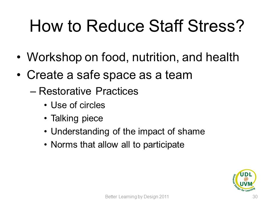 How to Reduce Staff Stress