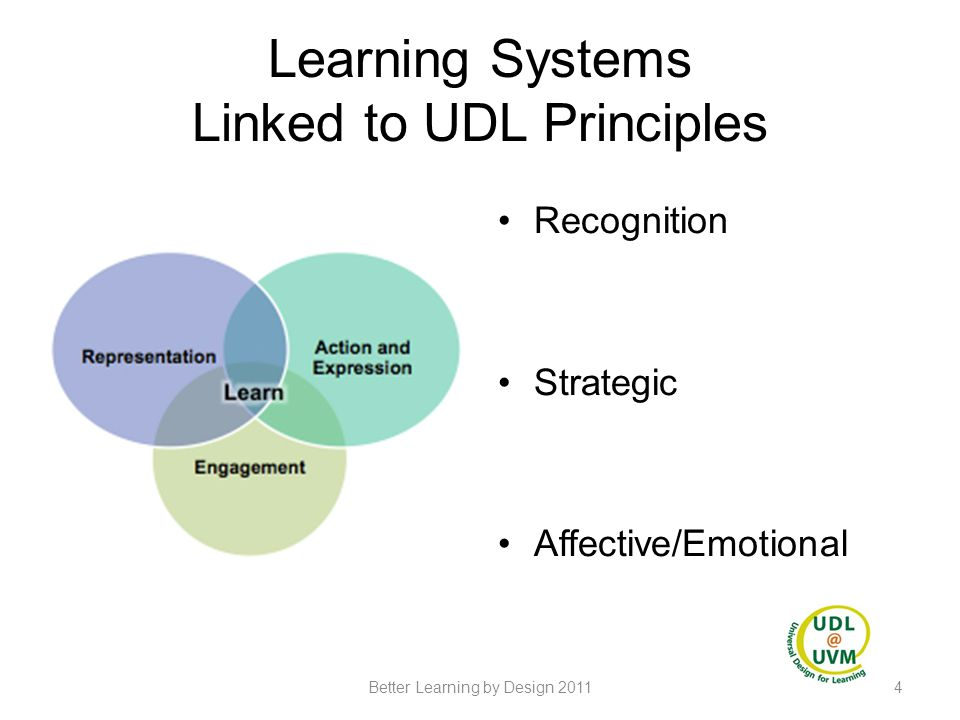 Learning Systems Linked to UDL Principles