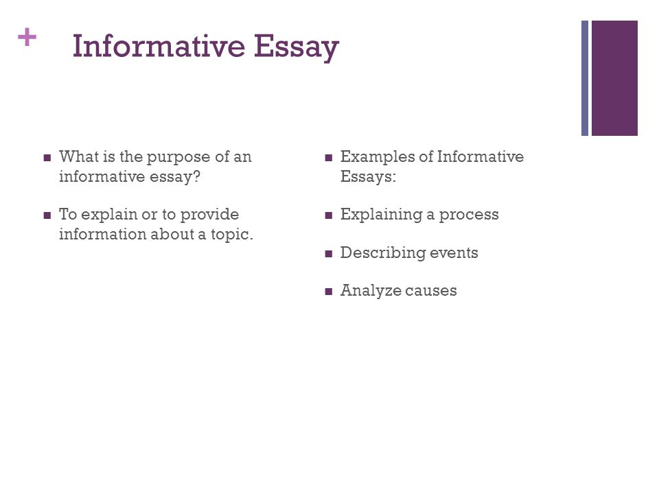 Informative Essay What is the purpose of an informative essay