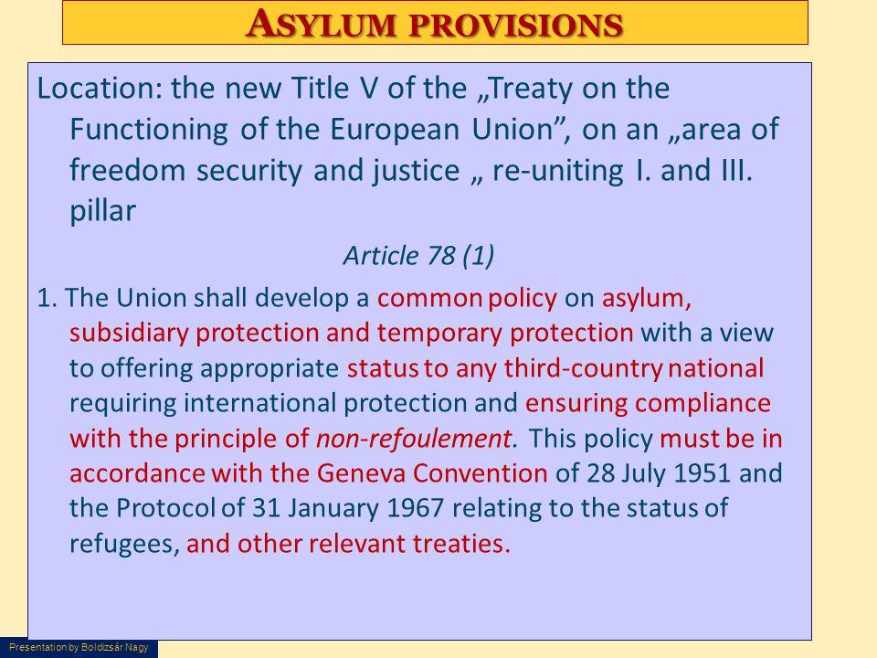 Asylum provisions