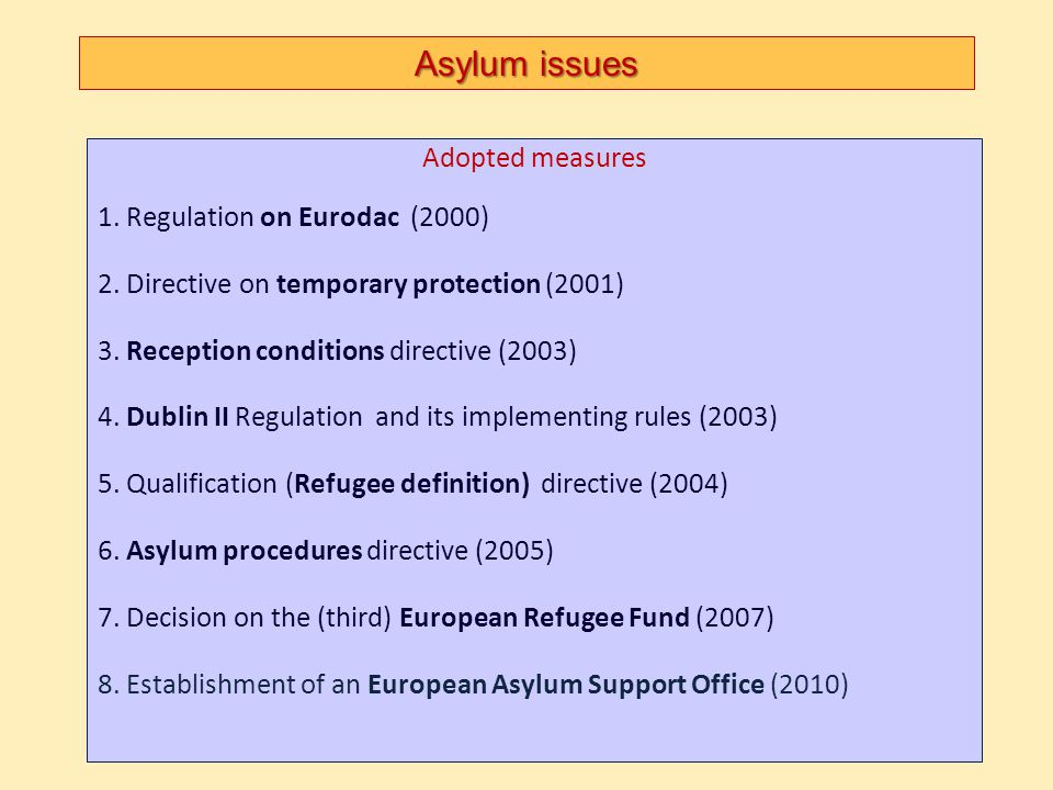 Asylum issues