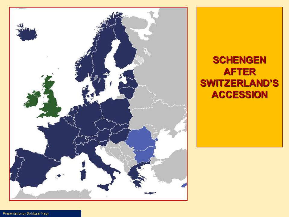 SCHENGEN AFTER SWITZERLAND'S ACCESSION