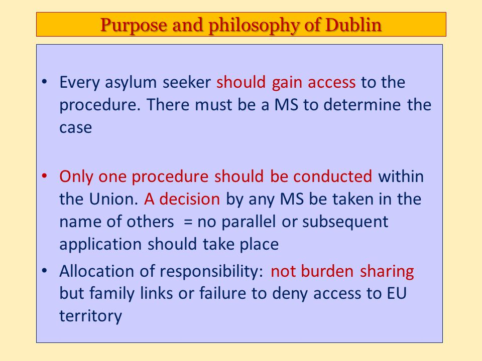 Purpose and philosophy of Dublin