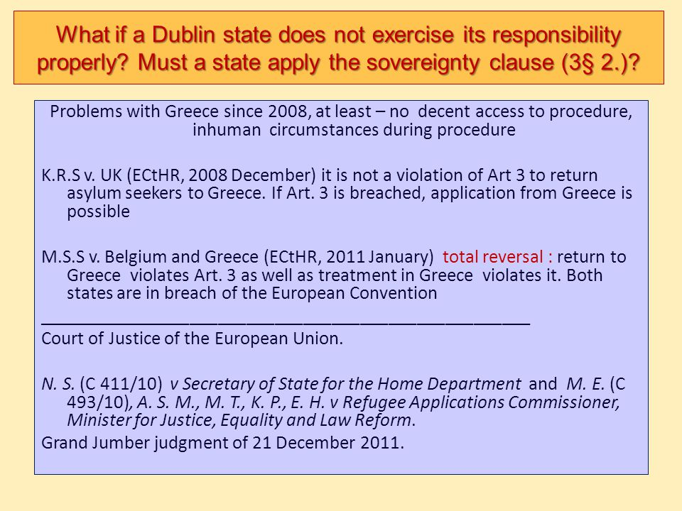 What if a Dublin state does not exercise its responsibility properly