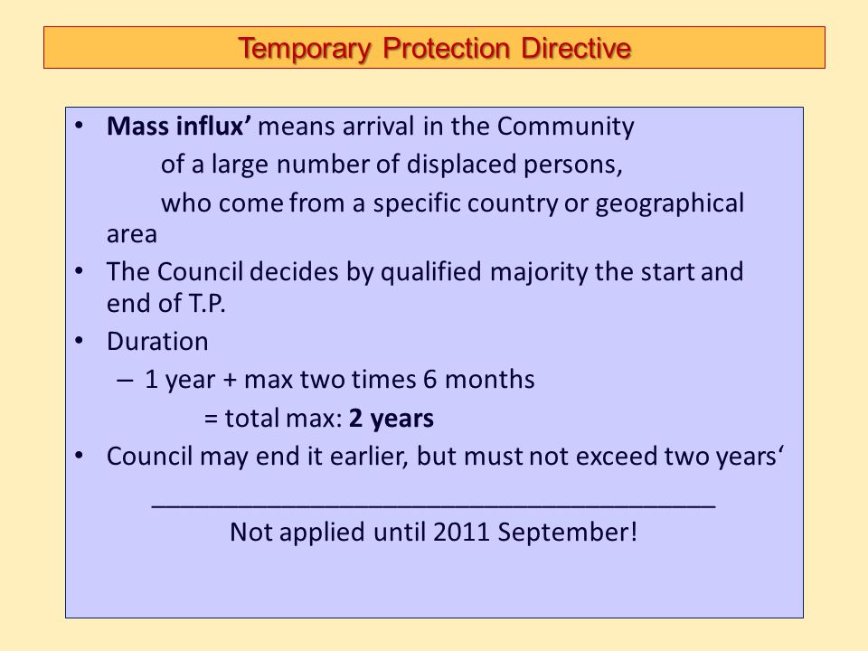 Temporary Protection Directive