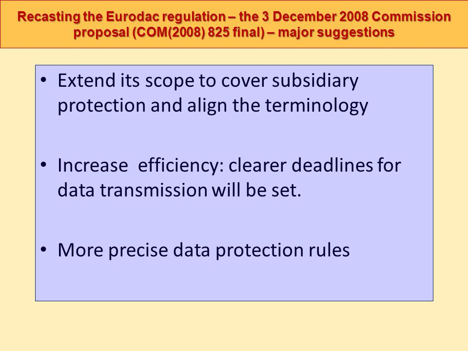 More precise data protection rules