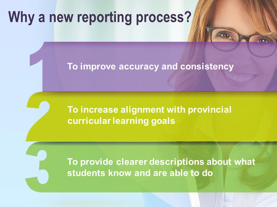 Why a new reporting process