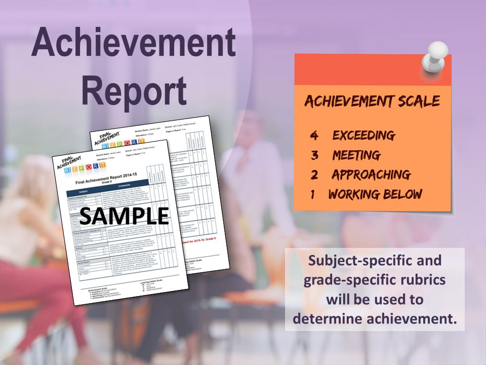 Achievement Report. Speaking Points: