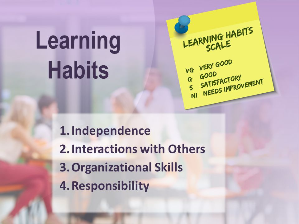 Learning Habits Independence Interactions with Others