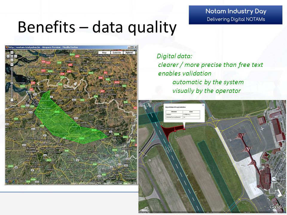 Benefits – data quality
