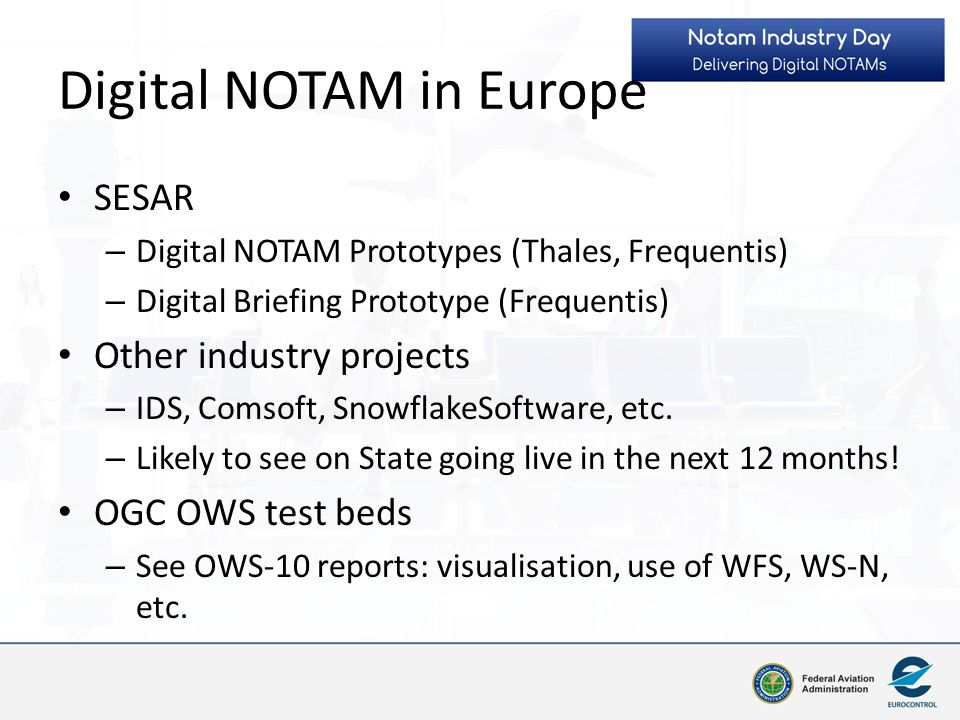 Digital NOTAM in Europe