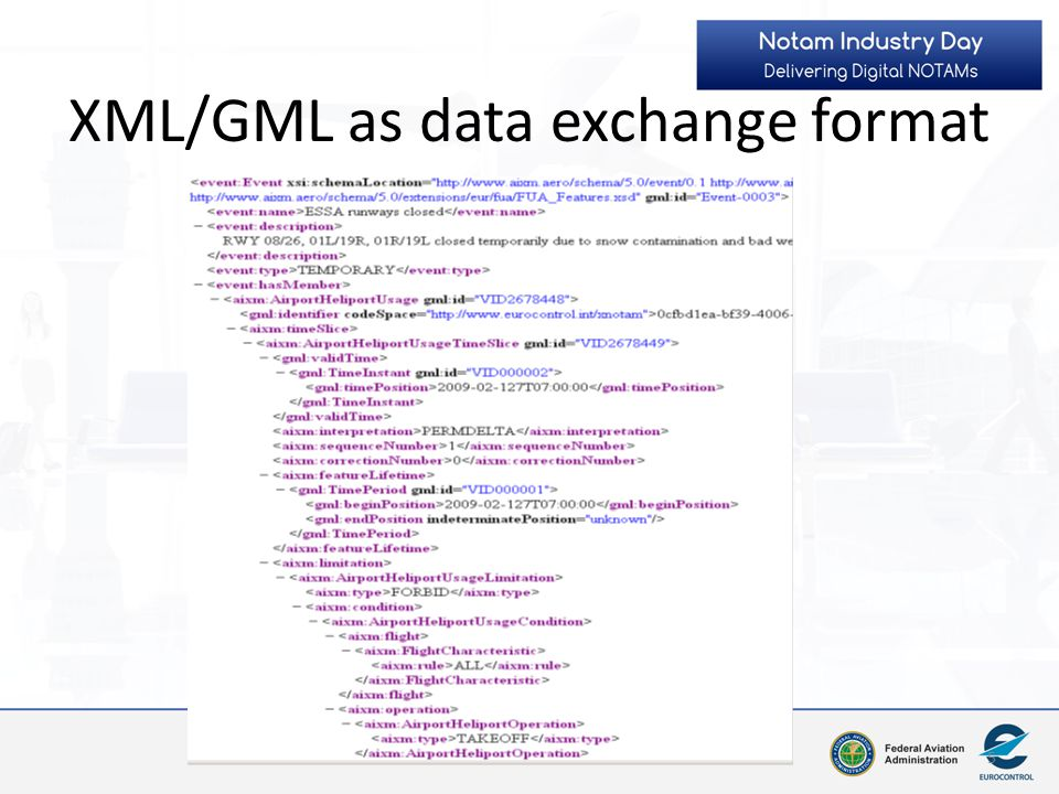 XML/GML as data exchange format