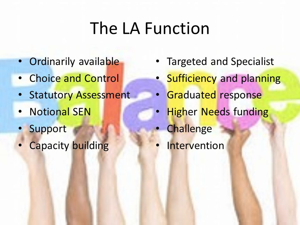 The LA Function Ordinarily available Choice and Control