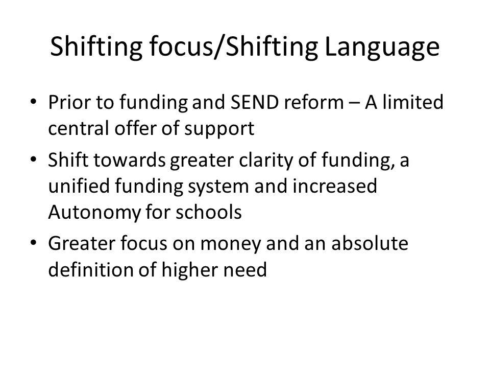 Shifting focus/Shifting Language