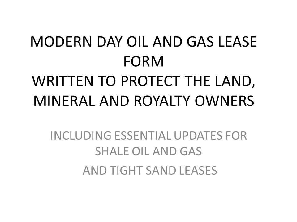INCLUDING ESSENTIAL UPDATES FOR SHALE OIL AND GAS