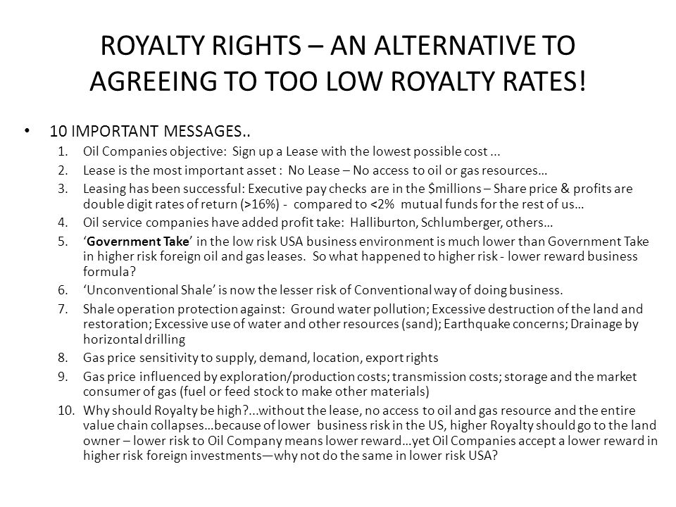 ROYALTY RIGHTS – AN ALTERNATIVE TO AGREEING TO TOO LOW ROYALTY RATES!