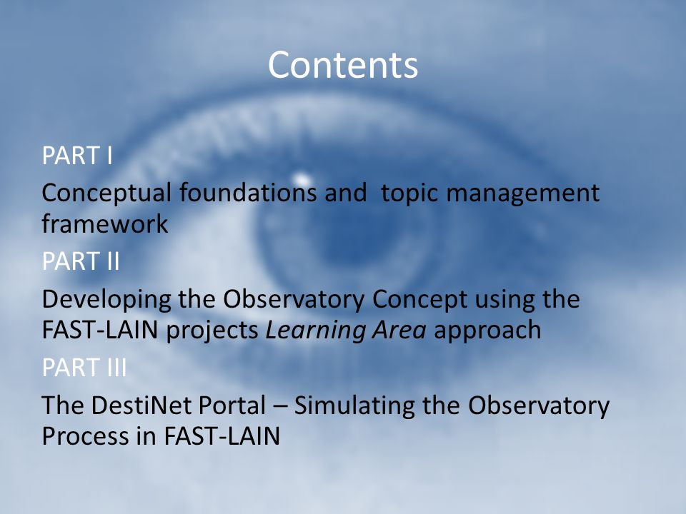 Contents PART I Conceptual foundations and topic management framework