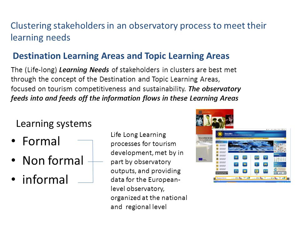 Formal Non formal informal Learning systems