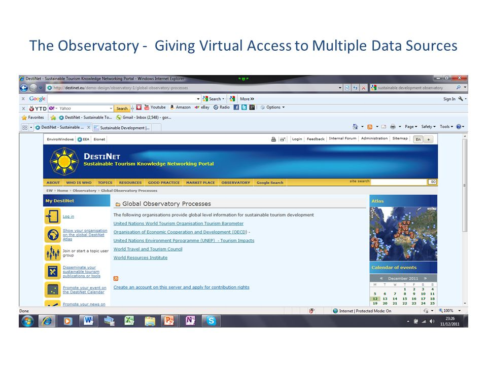 The Observatory - Giving Virtual Access to Multiple Data Sources
