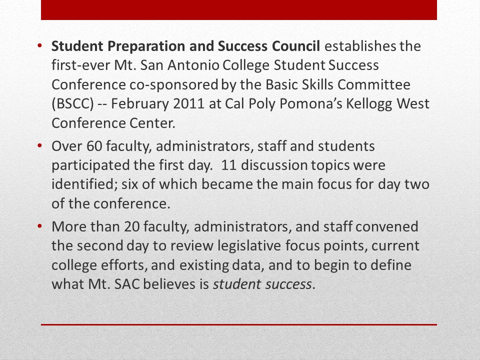 Student Preparation and Success Council establishes the first-ever Mt