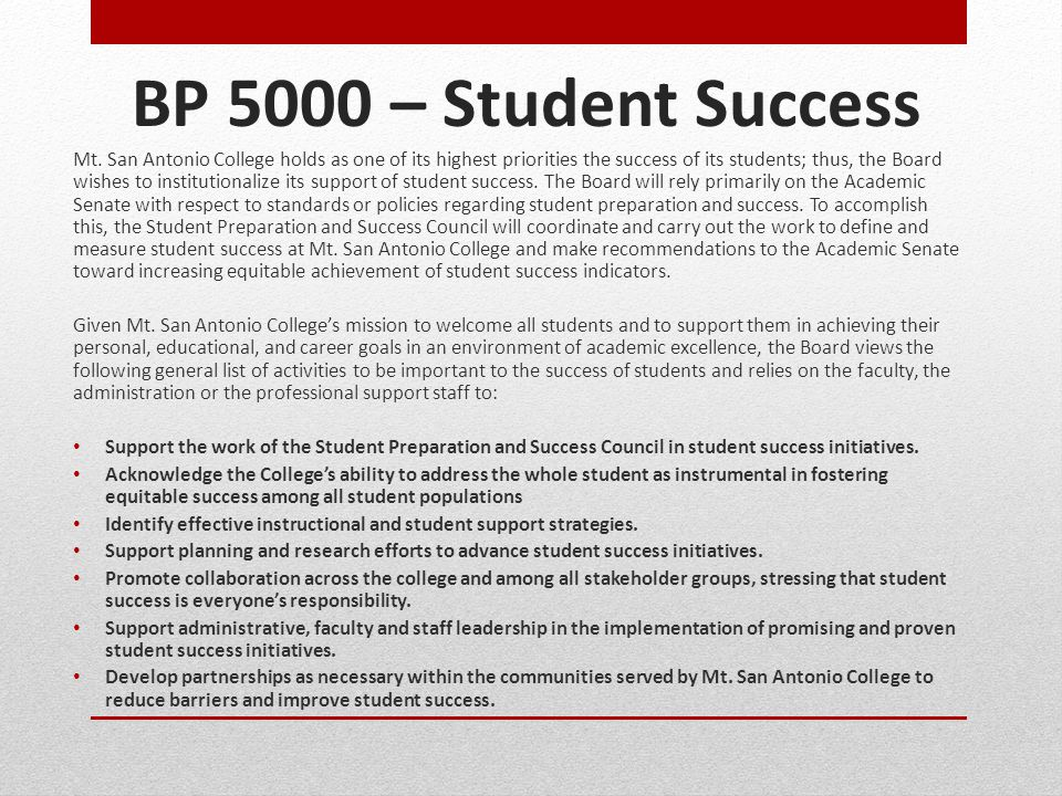 BP 5000 – Student Success