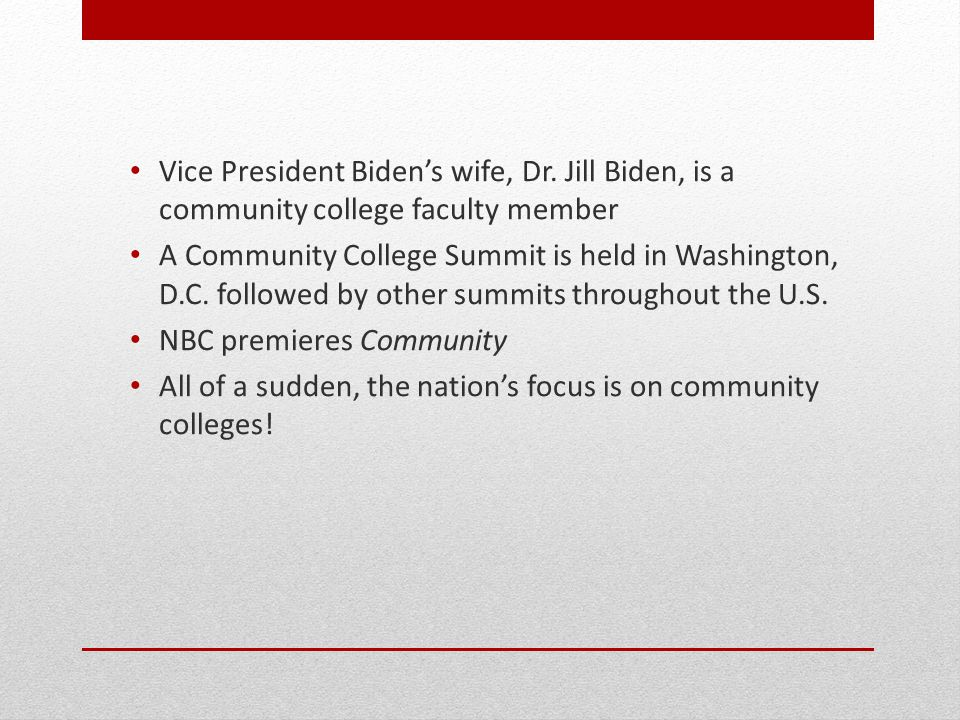 Vice President Biden's wife, Dr