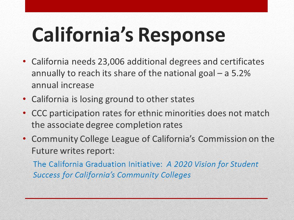 California's Response